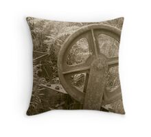 Old Wheel Throw Pillow