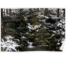 Snowy Appalachian Creek Poster