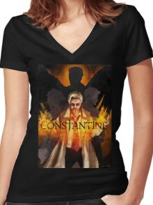 CONSTANTINE - Main Suspects Women's Fitted V-Neck T-Shirt