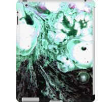 Cellular Abstract Painting Green Black iPad Case/Skin