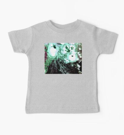Cellular Abstract Painting Green Black Baby Tee