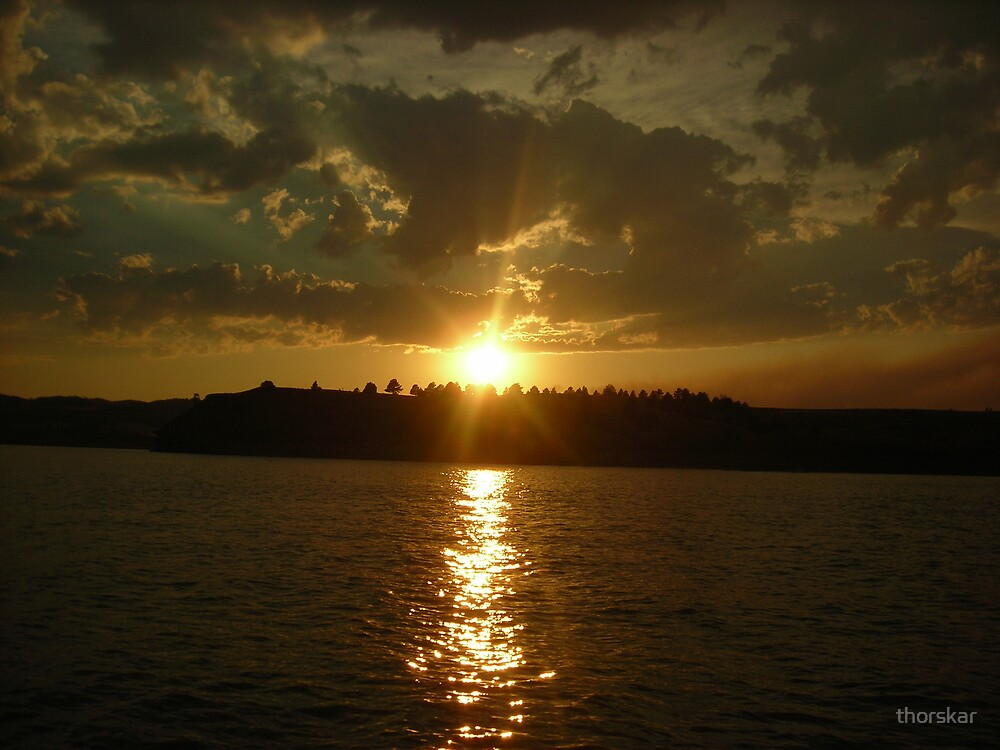 Fiery Sunset by thorskar