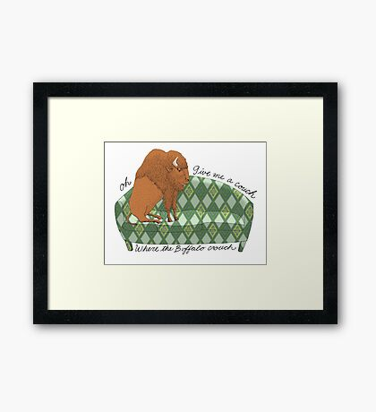 Buffalo on Couch nap time Framed Print