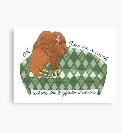 Buffalo on Couch nap time Canvas Print
