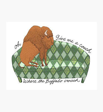 Buffalo on Couch nap time Photographic Print