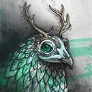 Antlered Owl Study by Kaitlin Beckett