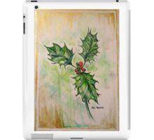 Ilex aquifolium or Holly 2 iPad Case/Skin