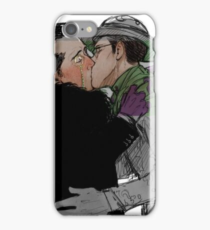 Nygmobblepot comic AU kiss iPhone Case/Skin