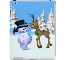 The Reindeer and the Snowman, tote, pillow, case,mugs iPad Case/Skin