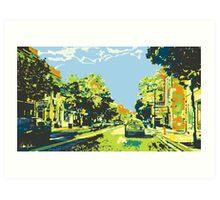 Washington Avenue - Cedarburg WI - Ci20C (bold) Art Print