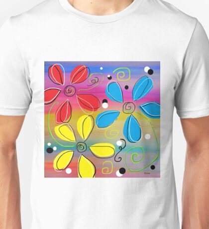 Bright Flowers Intertwined Unisex T-Shirt