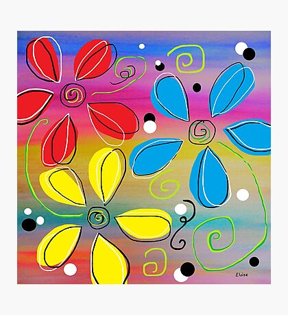 Bright Flowers Intertwined Photographic Print