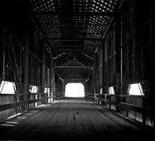 Old covered bridge in Chico California by Jeffrey  Sinnock