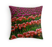 Two tone Tulips Throw Pillow