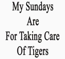 My Sundays Are For Taking Care Of Tigers  by supernova23