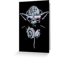 DJ Yoda Greeting Card