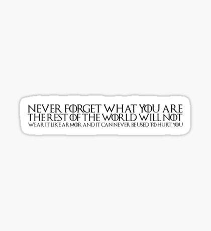 Game of Thrones Quote: Tyrion Sticker
