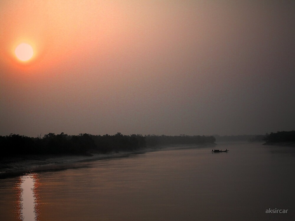 Sunrise at Sunderbans by aksircar