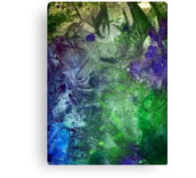 Frozen abstract crystal ice painting blue green purple white Canvas Print