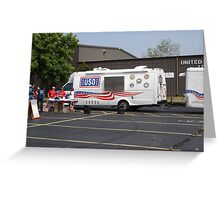 USO Bike Ride Greeting Card