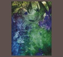 Frozen abstract crystal ice painting blue green purple white Kids Clothes