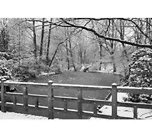 Winter's Bridge  Photographic Print