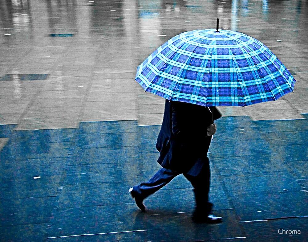 Blue Umbrella by Chroma