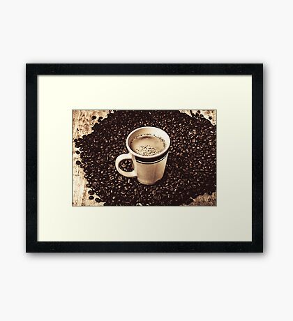 The art of brewing Framed Print