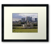 Old Meets New - Greenwich Framed Print