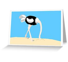 Ostrich Head In Sand Greeting Card