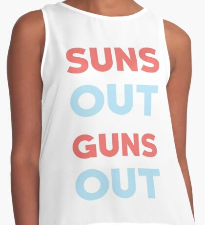 Suns out Guns out Contrast Tank
