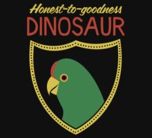 Honest-To-Goodness Dinosaur: Parakeet (on dark background) by David Orr