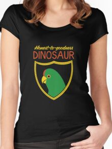 Honest-To-Goodness Dinosaur: Parakeet (on dark background) Women's Fitted Scoop T-Shirt