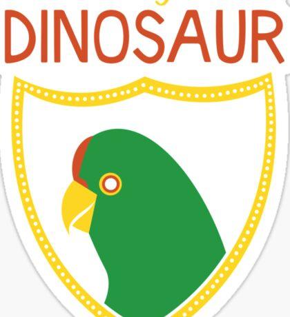 Honest-To-Goodness Dinosaur: Parakeet (on dark background) Sticker