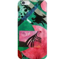 Uncharted abstract space landscape green red black iPhone Case/Skin