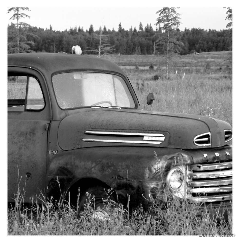 Old Truck - b&w by Danita Hickson