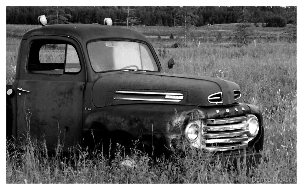 Old Truck 2 - b&w by Danita Hickson