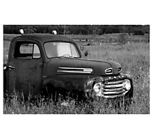 Old Truck 2 - b&w Photographic Print