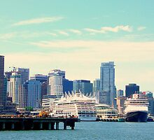 Southern view of Canada Place - Vancouver BC Canada by Hiroko