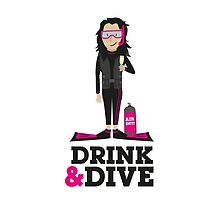 Drink and Dive - Scuba Diver - Black Long Hair by nelson92