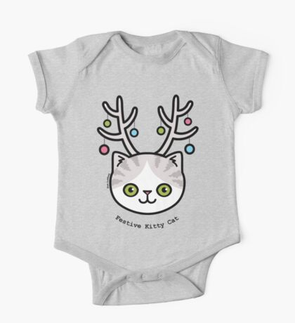 Festive Kitty Cat Kids Clothes