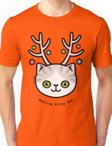 Festive Kitty Cat Unisex T-Shirt