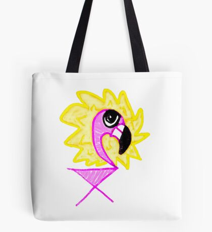 Little Flamingo Lion Mane Mix Tote Bag
