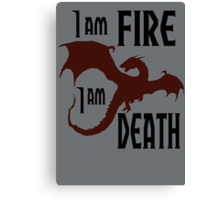 Fire & Death Canvas Print