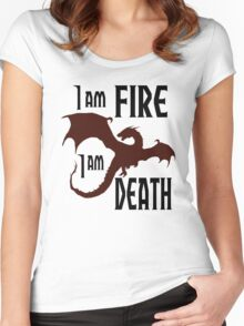 Fire & Death Women's Fitted Scoop T-Shirt