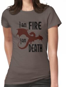 Fire & Death Womens Fitted T-Shirt