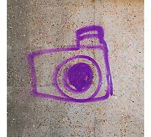 Purple Graffiti Camera Photographic Print