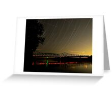 Star Trails Eco Park St Charles MO Greeting Card