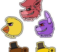 Five Nights at Freddy's Characters by GRENADEDRAGON