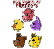 Five Nights at Freddy's Characters Photographic Print